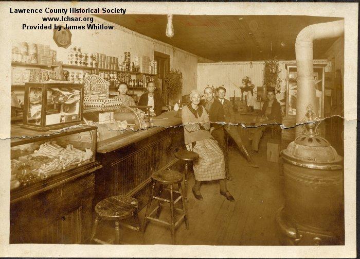 Store, Portia (Elsie Goad & Lanora Hardin behind counter)