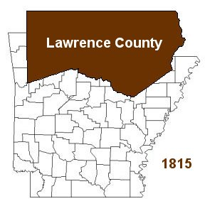 Map of Lawrence County, Arkansas 1815